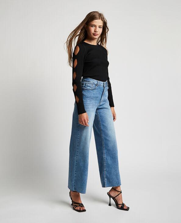 Jeans wide leg high waist blu denim - Pimkie