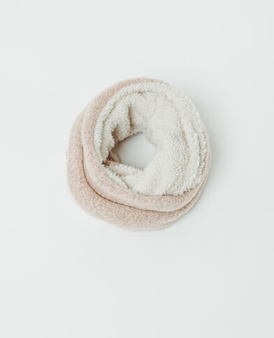 Snood in pelliccia ecologica rosa
