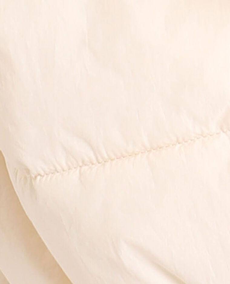 Piumino con cappuccio bianco sporco