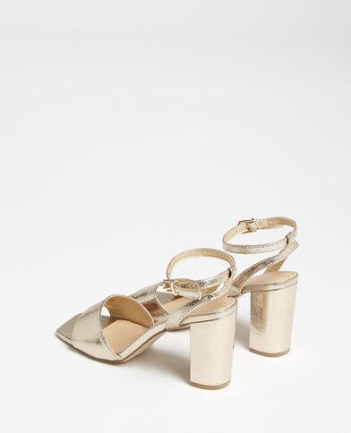 Sandali con cinturino dorato