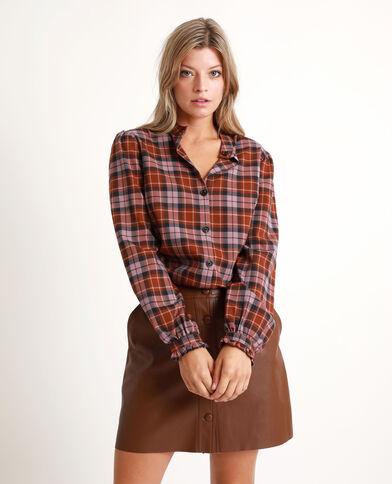 Camicia a quadri marrone