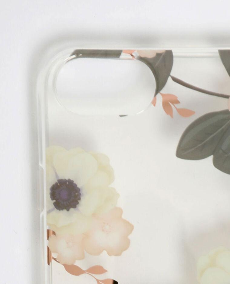Custodia a fiori compatibile con iPhone rosa