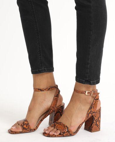 Sandali pitone marrone