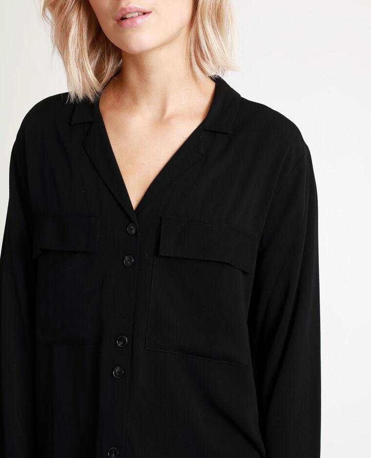Camicia con le tasche nero