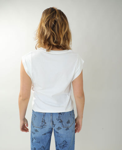 T-shirt ampia bianco