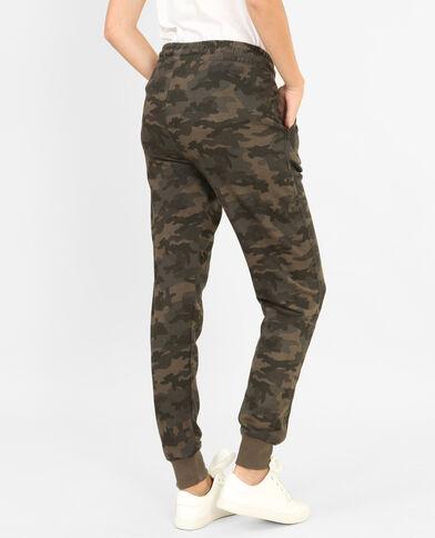 Pantalone da jogging mimetico verde