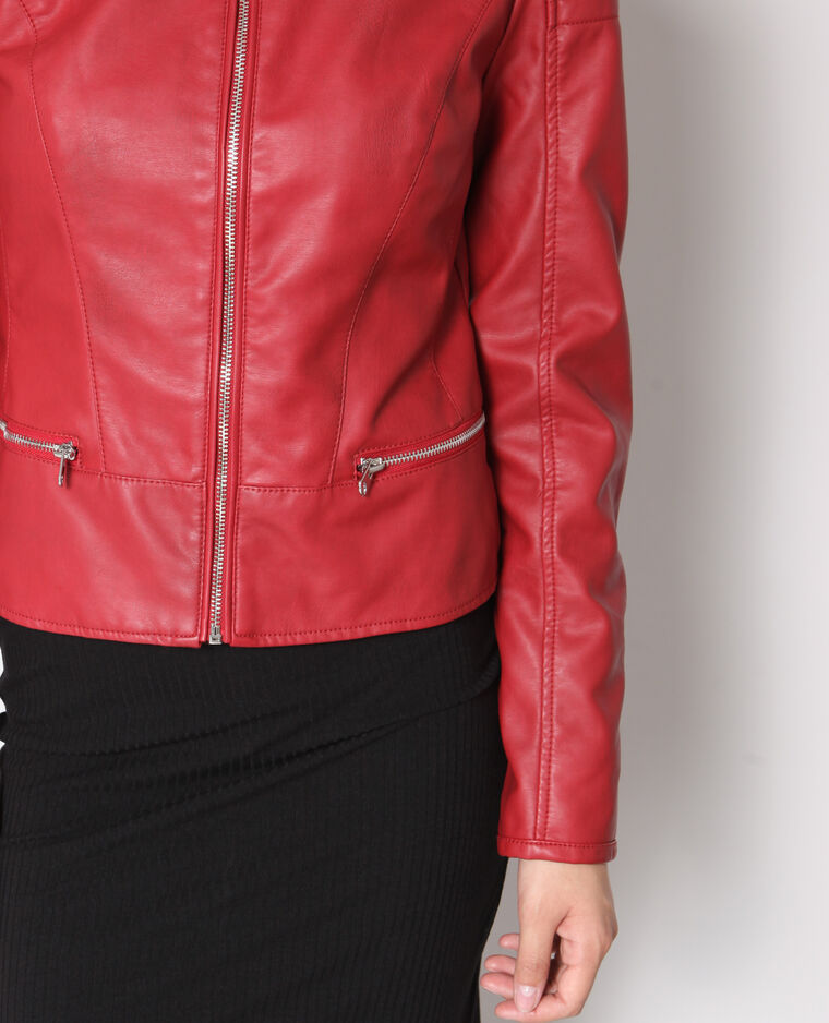 Giacca in similpelle Rosso