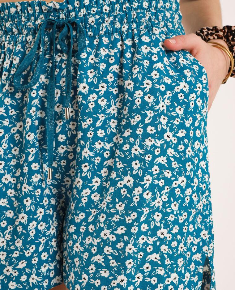 Short a fiori blu