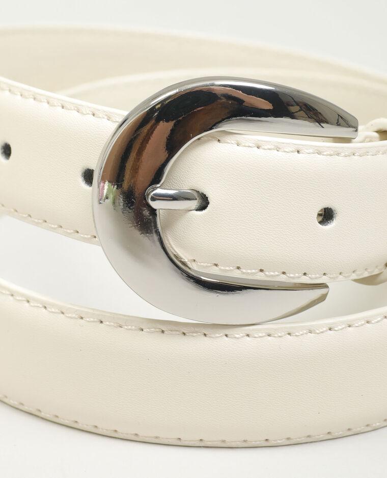 Cintura in similpelle beige - Pimkie