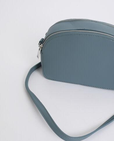 Piccola borsa con zip blu