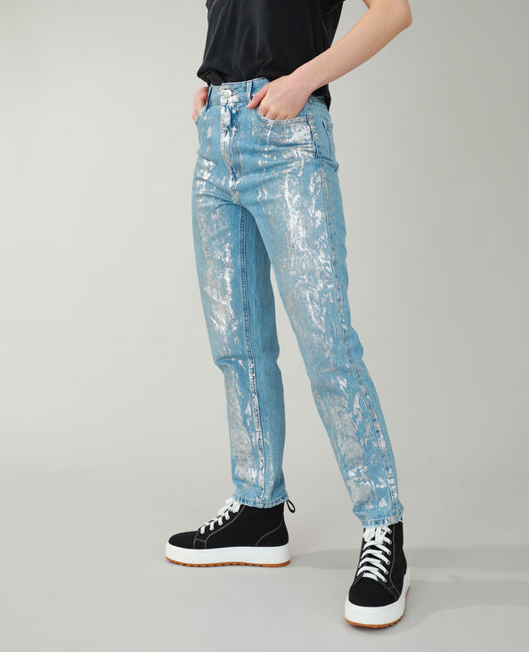 Jeans straight fantasia grigio