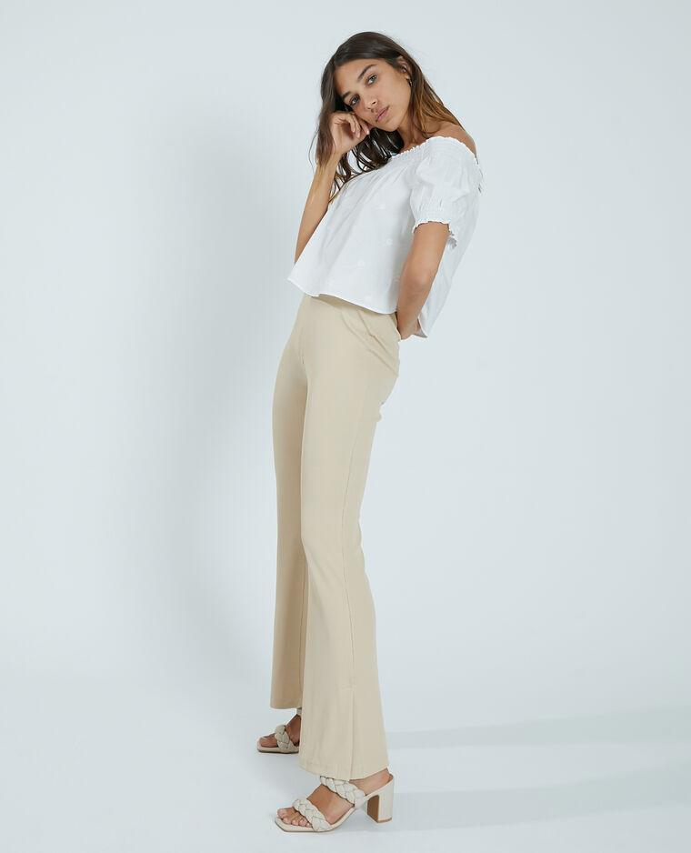 Pantalone flare beige - Pimkie