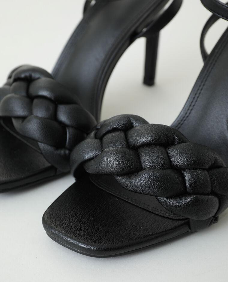 Sandali con tacco a spillo intrecciati nero - Pimkie