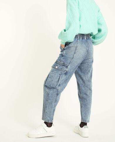 Jeans cargo blu denim - Pimkie