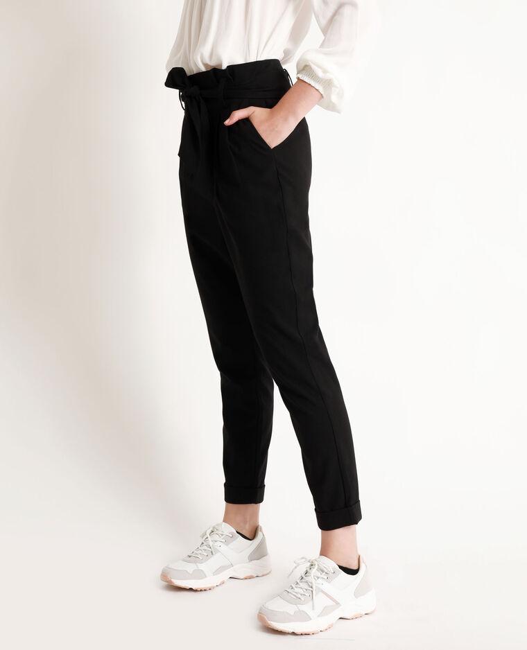 Pantalone a carota nero
