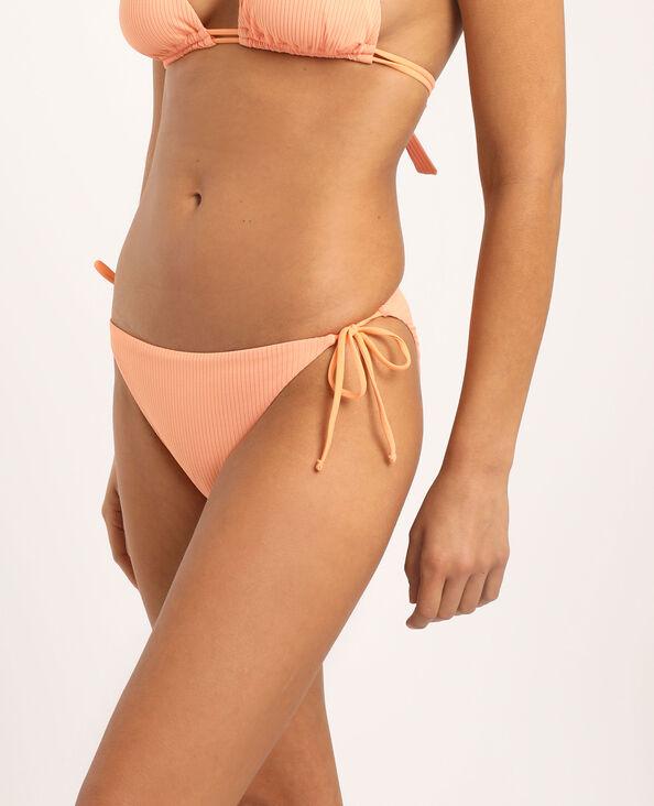Pezzo sotto di bikini sgambato arancio