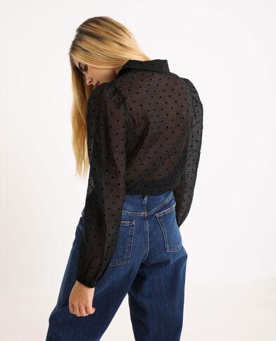 Camicia trasparente nero