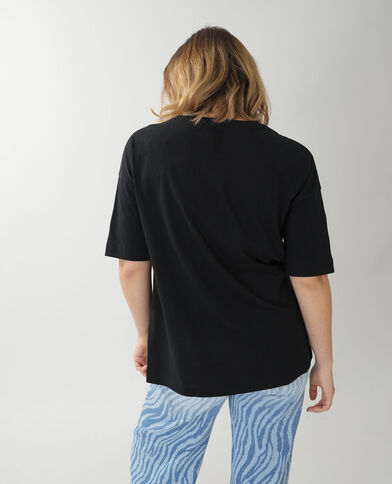 T-shirt ampia Billie Eilish nero - Pimkie