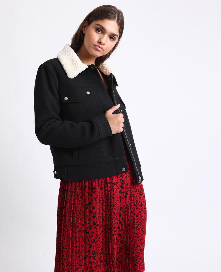Giubbotto in lana nero