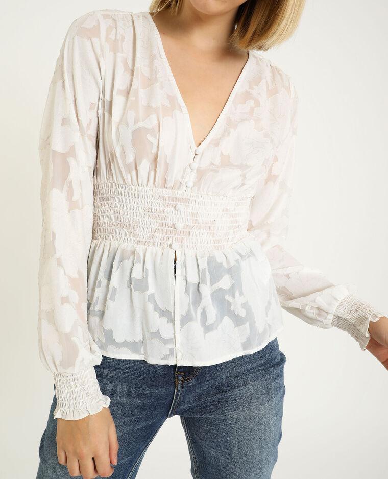 Camicia a maniche lunghe bianco sporco - Pimkie