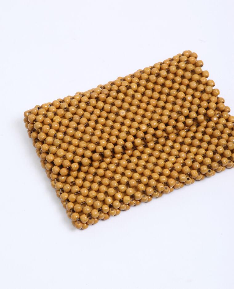 Piccola borsa con perle Beige