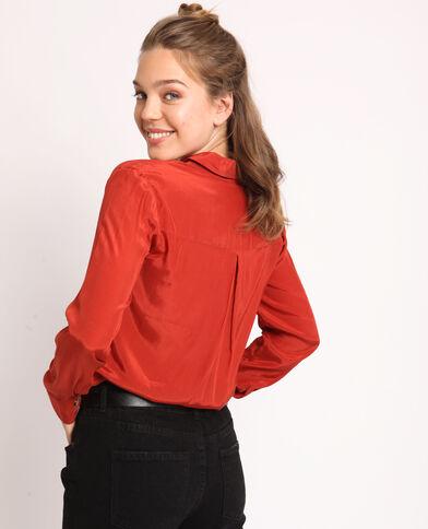 Camicia satinata ruggine