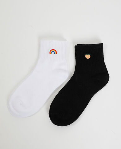 2 paia di calzini nero - Pimkie