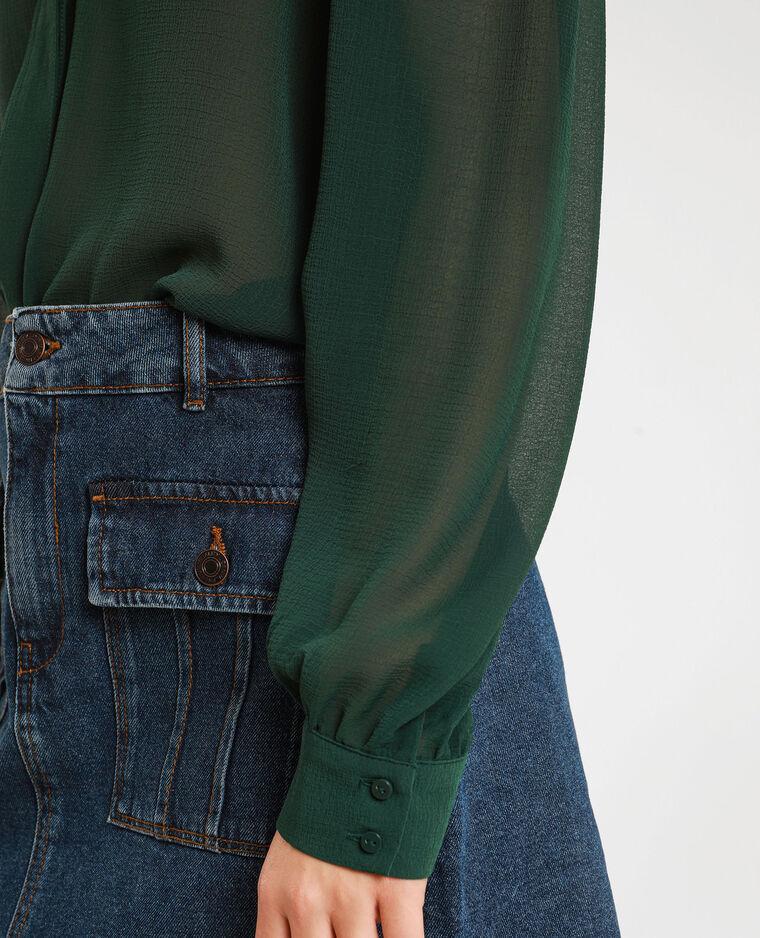 Camicia trasparente verde