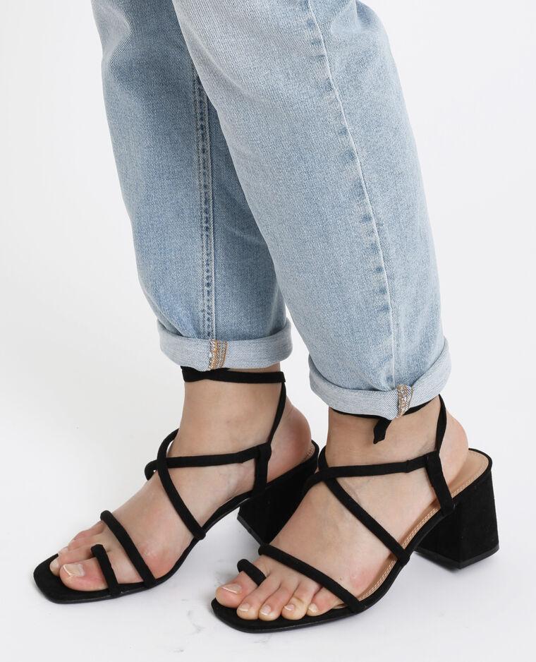 Sandali con tacchi nero
