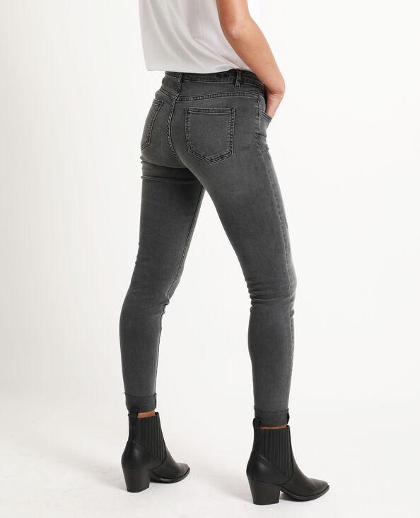 Jeans skinny mid waist grigio chiné