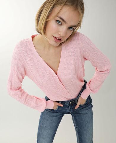 Cardigan intrecciato rosa cipria - Pimkie