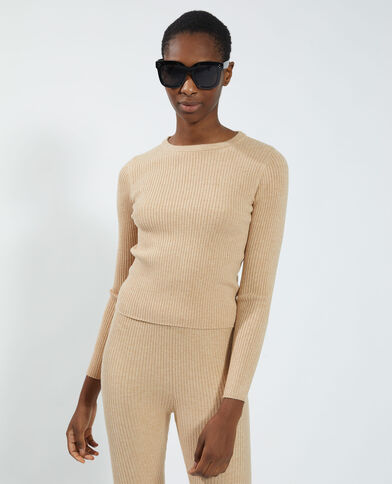 Pull a coste beige - Pimkie