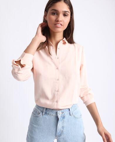 Camicia a righe rosa cipria