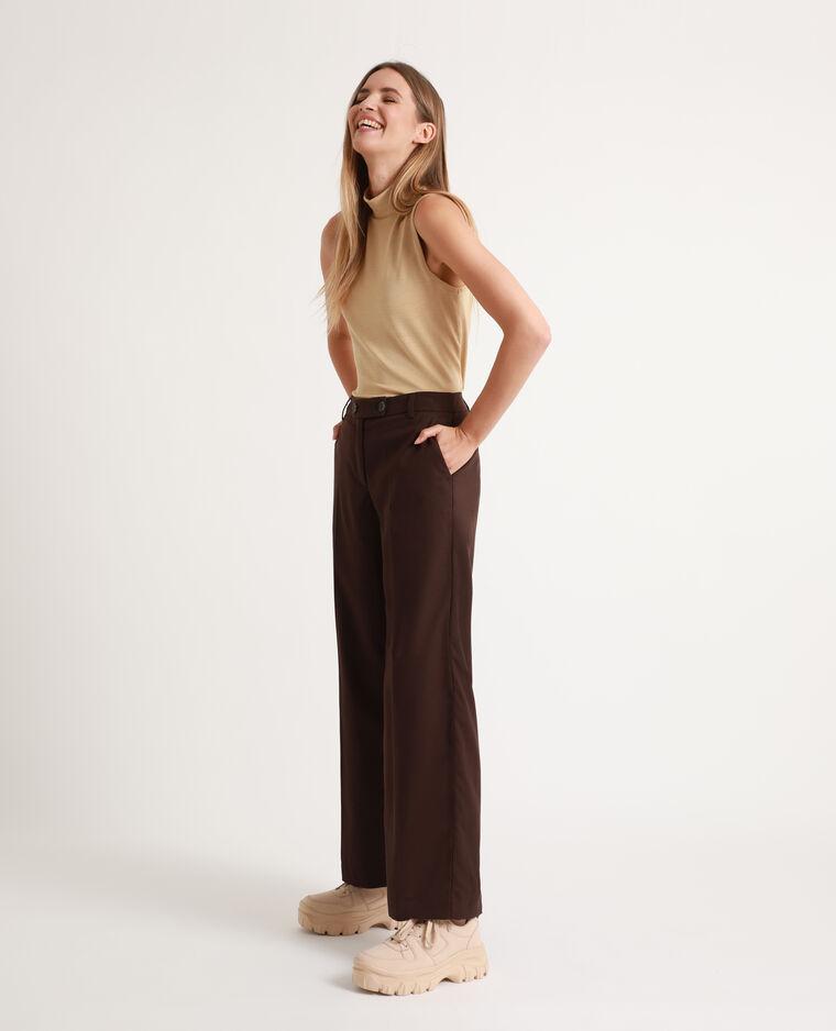 Pantalone largo cioccolato