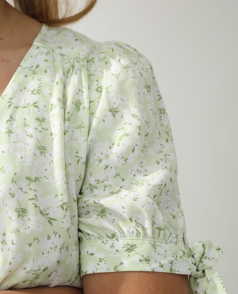 Abito a fiori verde - Pimkie