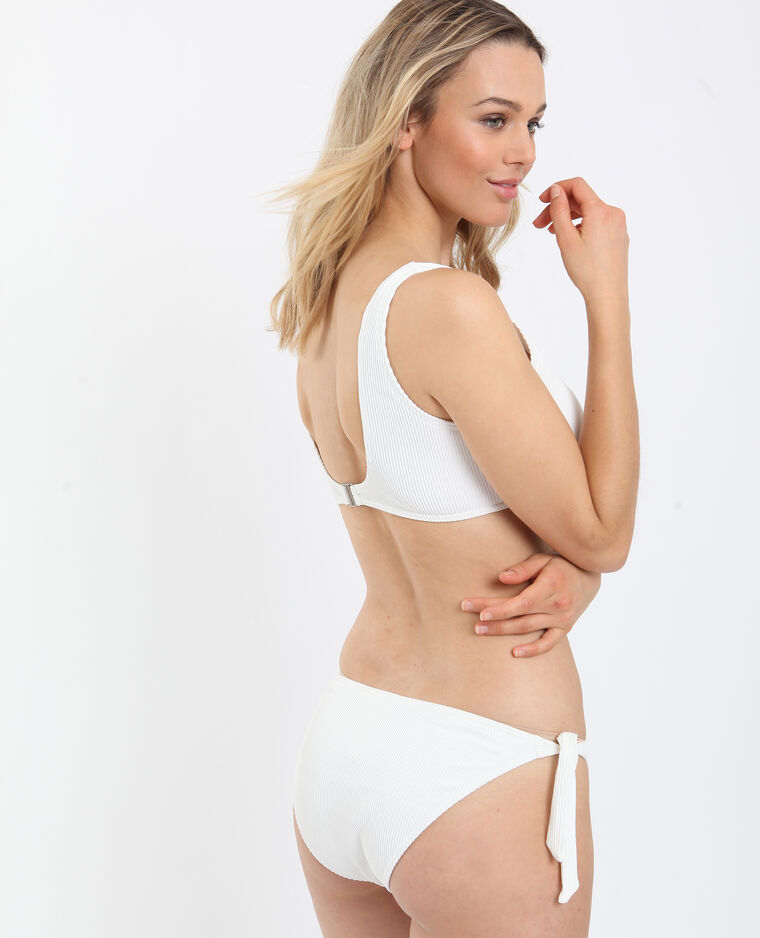 Bikini brassière écru