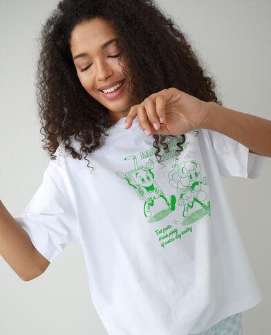 T-shirt oversize con scritta bianco - Pimkie