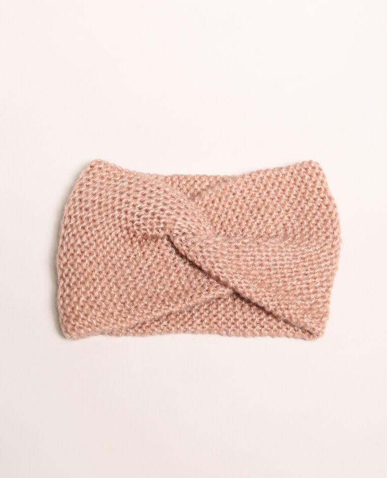 Headband intrecciata rosa