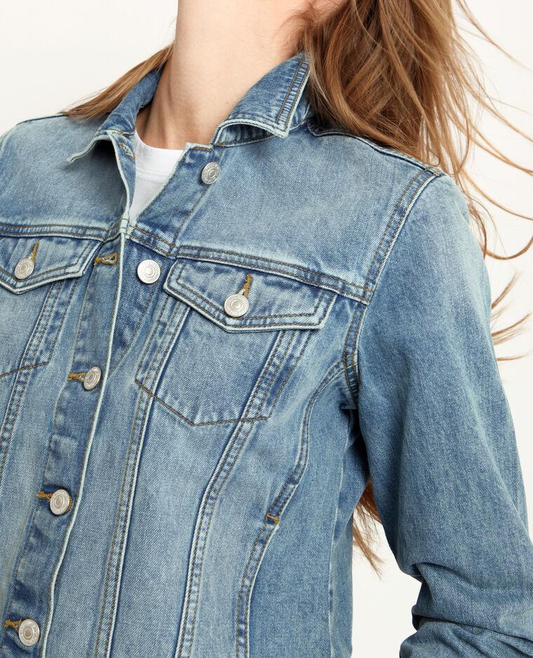 Giacca in jeans blu delavato