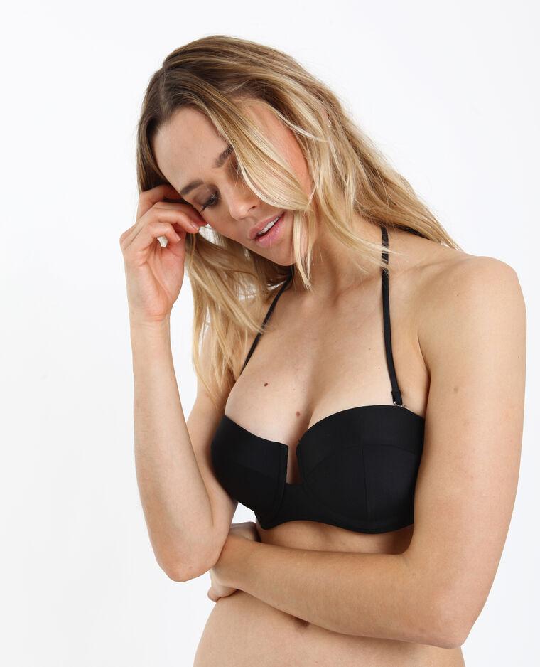 Pezzo sopra di bikini a balconcino nero