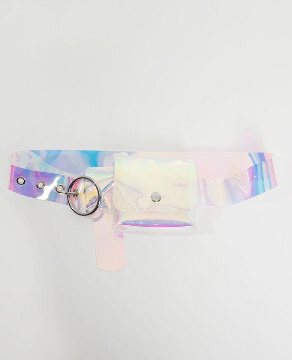 Cintura pochette ologramma grigio - Pimkie