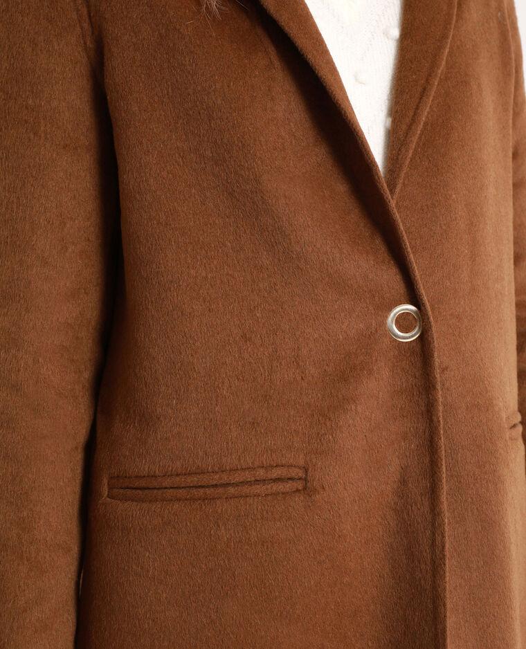 Cappotto diritto marrone