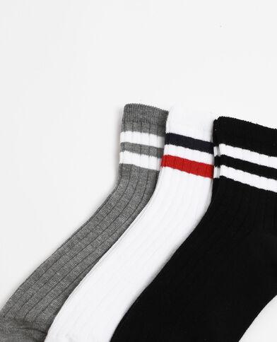 - Lotto da 3 paia di calze sportive. nero