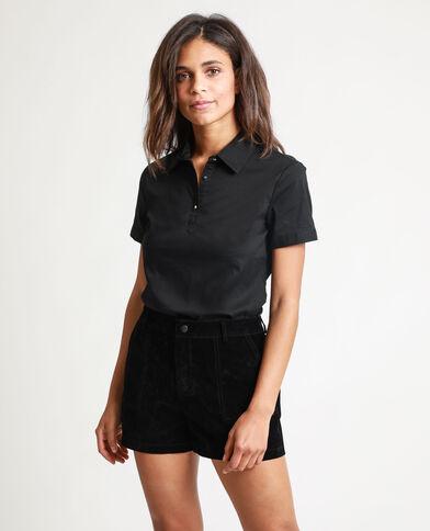 Camicia maniche corte nero