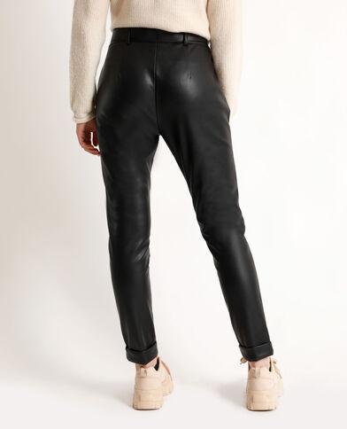 Pantalone in finta pelle nero