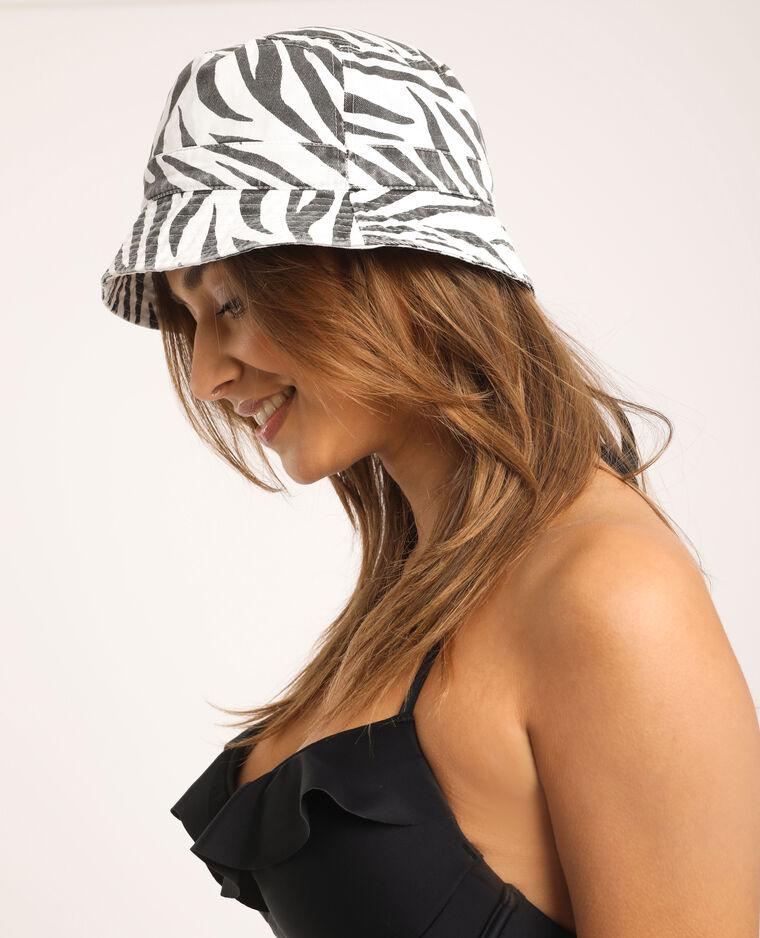 Cappelllo bob zebrato nero