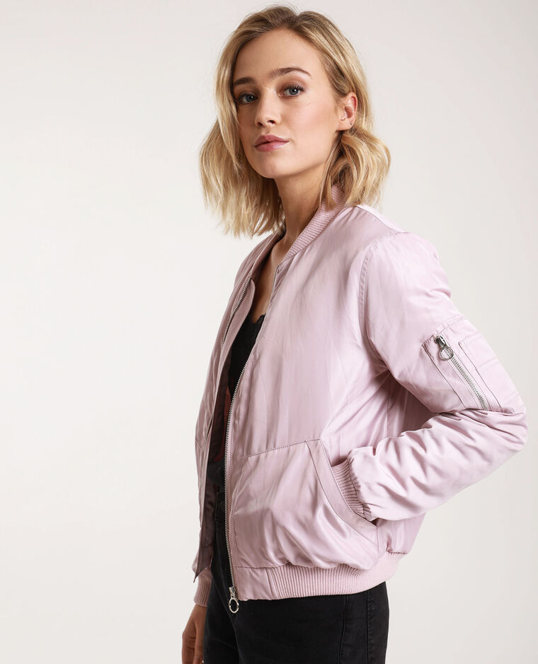 Bomber satinato rosa