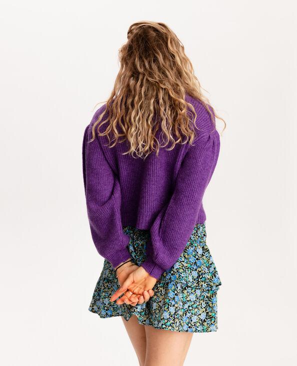 Pull corto in maglia spessa viola