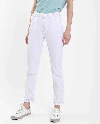 Jeans dritto mid waist bianco