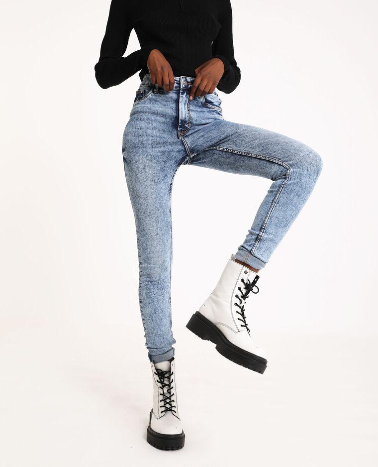 Jeans skinny high waist blu delavato